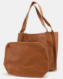 Utopia Folded Shopper Bag Brown