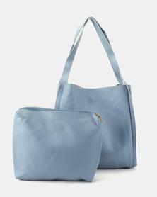 Utopia Folded Shopper Bag Blue