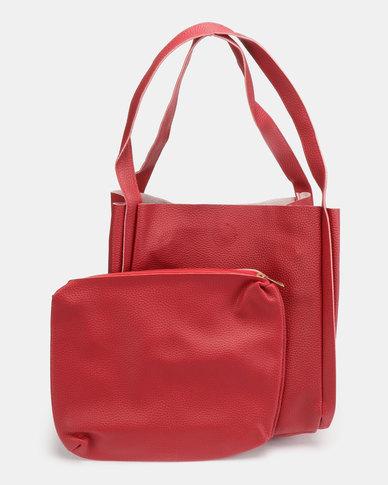 Utopia Folded Shopper Bag Red