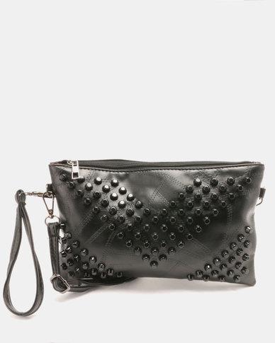 Utopia Studded Crossbody Bag Black
