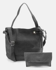 Utopia 2 Piece Drawstring Bag Black