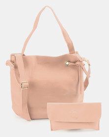 Utopia 2 Piece Drawstring Bag Pink