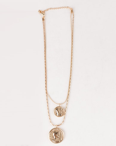 All Heart Trendy Layered Necklace Gold-toned