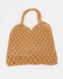 All Heart Natural Woven Straw Shopper Bag Neutral