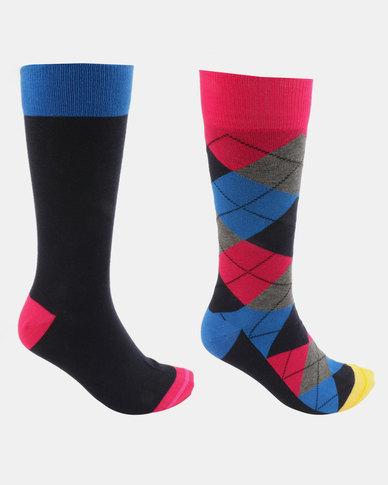 JCrew 2 Pack Argyle Socks Multi