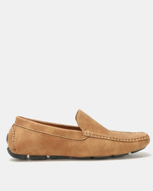 Bata Clean Casual Drivers Brown