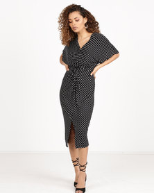 Utopia Spot Knot Dress Black/White