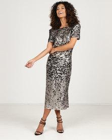 MARETHCOLLEEN Sequins Dress Metallic