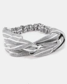 Joy Collectables Striped Headband Grey