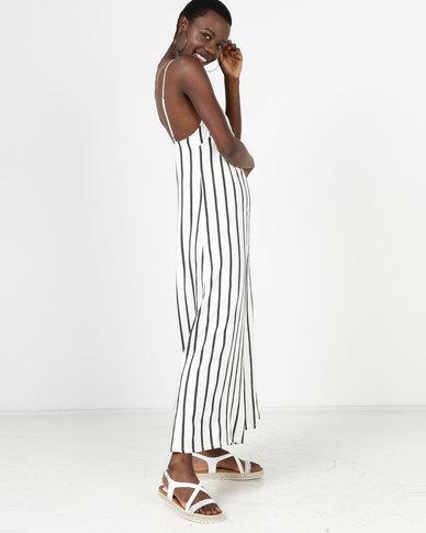 f00f307321f Sitting Pretty Amalfi Wide Leg Jumpsuit Black Stripe