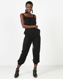 Sitting Pretty Dahab Tie Jumpsuit Black