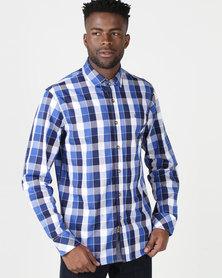 KG Men's Casual Long Sleeve Shirt Royal