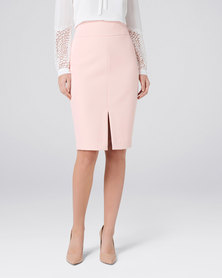 Forever New Eliza Corset Pencil Skirt Blush