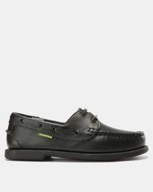 Dakotas Boat Shoes Leather Black