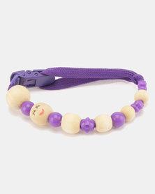 Moederliefde LiefieDiefie Wooden Beads Dummy Clip Purple