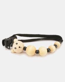 Moederliefde LiefieDiefie Wooden Beads Dummy Clip Black