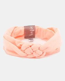 MoederLiefde Knotted Baby Headband Peach