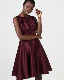 non-european® Satin Twist Dress Wine