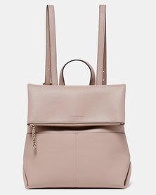 Forever New Kayla Foldover Backpack Velvet Sand