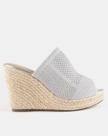 Wild Alice by Queue Push In Mules With Stretchy Upper Grey