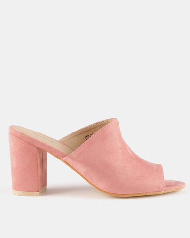 Queue Push In Mules Pink
