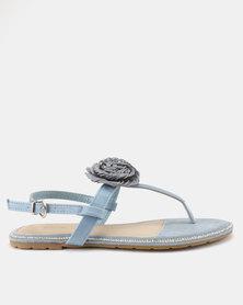 PLUM Ankle Strap Sandals Blue
