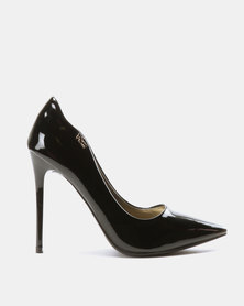 PLUM Curved Court Shoes Black