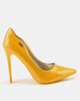 d302c72a520 PLUM Curved Court Shoes Mustard