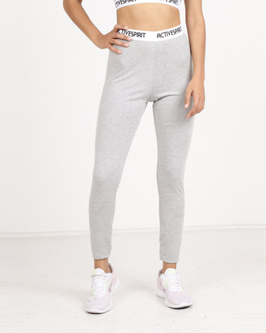 Spirit Activewear Yoga Leggings Grey