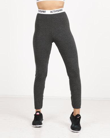 Spirit Activewear Classic Yoga Leggings Grey