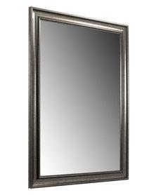 NovelOnline Wooden Classic Framed Mirror Gunmetal Silver