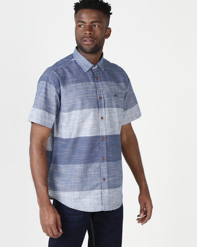 JCrew Short Sleeves Horizontal Stripe Shirt Blue