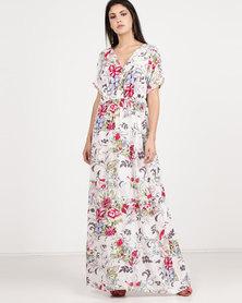 Utopia Floral Maxi Dress Ivory