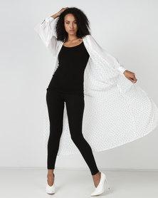SKIP Monochrome Prime Obsession Lightweight Coat White
