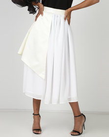 SKIP Monochrome Prime Obsession Long Skirt Cream