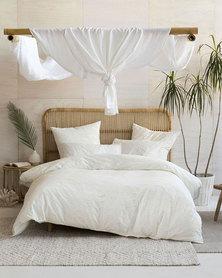Linen House Mickael Duvet Cover Set White