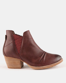 Caterpillar Jessa Boots Wine