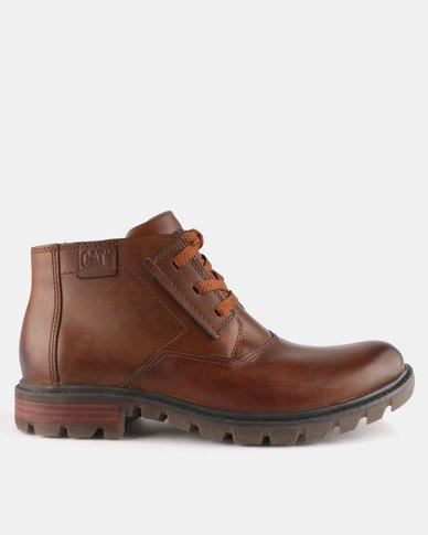 Caterpillar Stats Boots Brown