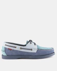 Sebago Spinnaker Nubuck Shoes Navy Blue Multi