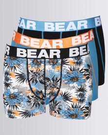 Bear Cactus Bodyshorts 3Pack Blue/Orange
