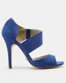 Utopia Vamp Strap Heeled Sandals Blue