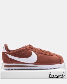 Nike Women's Classic Cortez Nylon Sneakers Red/White