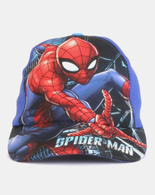 Character Brands Spiderman Peak Cap Blue