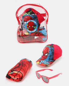 Character Brands Spiderman Fun In The Sun Set Red