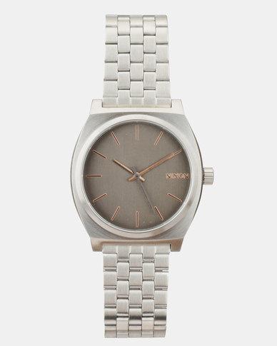 18ddd4e96 Nixon Time Teller Watch Silver-Plated | Zando