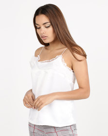 Daisy Street Cami Top White