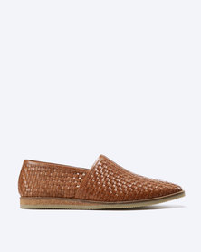 Frank Wright Taxi Leather Slip Ons Tan