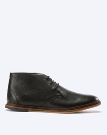 Frank Wright Walker Leather Boots Black