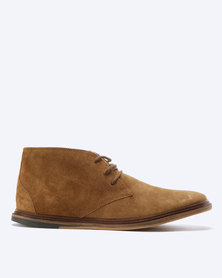 Frank Wright Walker Suede Leather Boots Tobacco