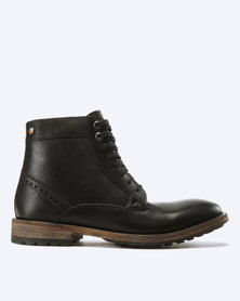 Frank Wright Acton Leather Boots Black